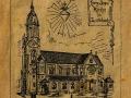 Image offerte aux donnateurs pour la construction de l'église du Sacré Coeur