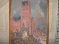 La basilique bombardée Toile