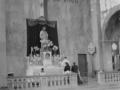 La basilique en ruines Mariage en 1948