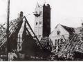 La basilique et le village en ruines