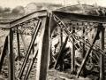 Le pont sur la Doller bombardé