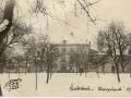 Pensionnat sous la neige en 1917