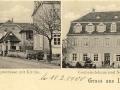 Rue Aristide Briand avec l'église Saint Martin et la mairie-école